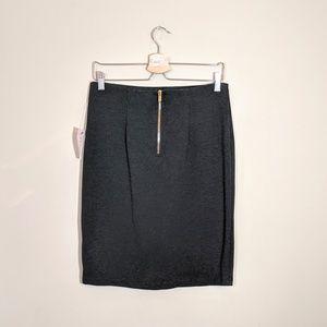 Philosophy Skirts - PHILOSOPHY Solid Ponte Pencil Skirt Dark Coal Grey
